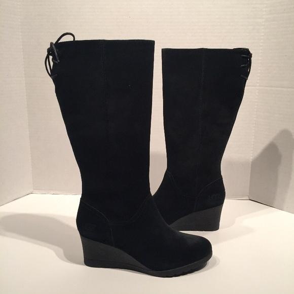 8ba3817c582 Ugg Women's Dawna Leather Black Waterproof Boots